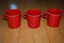 Fiesta Ware Red Coffee Tea Mug Scarlet Set of Three (3) HLC USA