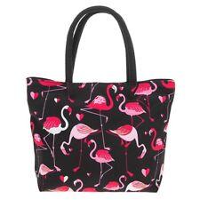Equilibrium Midnight Flamingo HandBag Black/pink Bag