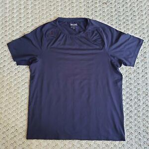 Rhone Men's Athletic Workout Short Sleeve Navy Blue T Shirt - Large L