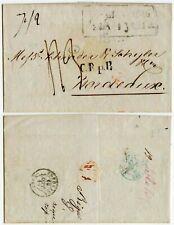 LATVIA BALTIC RUSSIA 1846 C R p R RUSSE PORT FRONTIER via AACHEN PRUSSE GIVET 43