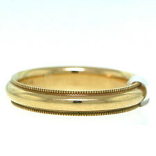 Wide Size 9 Comfort Fit 14K Yellow Gold Wedding Band 4mm