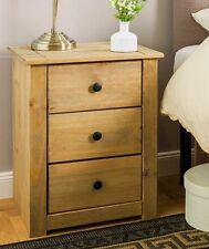 Metal Bedside Tables & Cabinets with 3 Drawers