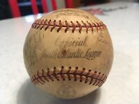 South Atlantic League Baseball - 1947 Fulton Chicks Vintage Signed - SALLY KITTY