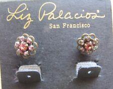 Liz Palacios Flower Earring Pink Swarovski Crystal Antique Brass Nordstrom