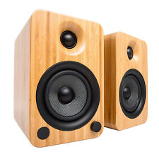 Kanto YU6BB Powered Speakers with Bluetooth and Phono Preamp - Bamboo