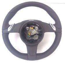Porsche 991 981 Boxster Cayman Agate Grey Leather PDK Steering Wheel