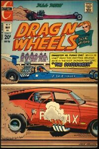 "DRAG N' WHEELS #59 1973 FN+ ""Spin-Out"" CHARLTON COMICS"