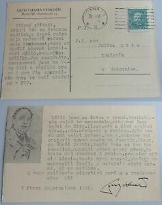 Czech Dichter Quido Mary Vyskočil (1881-1969): Signed Pk Prague 1935