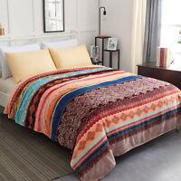 Large Boho Blanket Geometric Flannel Fleece Blanket Plush Bed Blanket Queen King