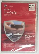 McAfee Live Safe 2015 New Sealed in box