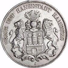 Hamburg 5 Mark 1891 bis 1913 Großer Adler Jahr unserer Wahl in Münzkapsel