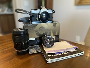Olympus OM-1 w/ 50mm f/1.8 Lens, Box, Receipt, And Accessories