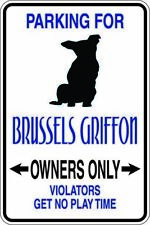 Parking for Brussels Griffon Dog Gift Metal Sign Pet Animal Love Free shipping