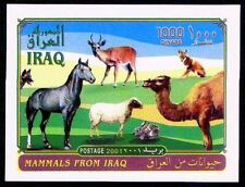 Iraq Iraqi Animals  MAMMALS SC#1623 , 2001 Souvenir Sheet 1000 Dinars  MNH