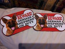 German Shepherd Dog Signs x 2