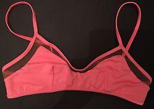 ASOS Pink Mesh Cropped Bikini Top 10 Bnwot Swim