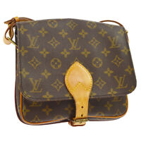 LOUIS VUITTON CARTOUCHIERE MM CROSS BODY SHOULDER BAG MONOGRAM A43992h