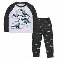 Toddler Kids Baby Boys Girls Autumn Dinosaur Sleepwear Nightwear Pajamas Set