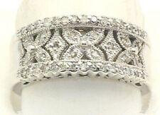 NEW Wide 1/2 Carat Diamond Ring Band 14k White Gold