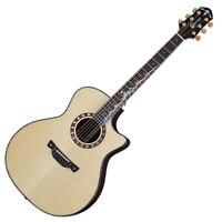 Crafter KML-036 SR Premium Grand Auditorium GA Acoustic Guitar Unique Moon Inlay