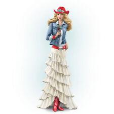 Red White and Refreshing Lady Figurine - Coke Coca Cola Statue Bradford Exchange