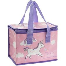 Unicorn Insulated Pink  Lunch Bag Picnic Childrens Kids School Packed Lunch