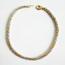 Armband Gold 333er Bi-Color Armkette Goldschmuck Herren Damen Armreif Armschmuck