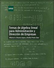 UNED Álgebra lineal para administración y dirección de empresas, eBook, 2014