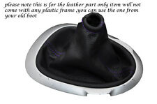 FITS PURPLE STITCHING FITS NISSAN JUKE 2010-2013+ LEATHER GEAR GAITER ONLY
