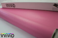 Pink Carbon Fiber Vinyl Decal Sticker Roll 5ftx5ft Air Release Car Wrap PCF3M