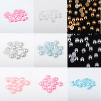 Various Flat back Pearl Rhinestone 2-12mm Face Gems Craft Card Making Embellish