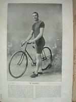 THE SPORTFOLIO PORTRAITS 1896 VINTAGE CYCLING PHOTOGRAPH PRINT R. PALMER