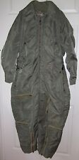 Vintage Green Military Bomber Flight Insulated Flying Jumpsuit M / L