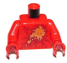 LEGO NEW RED MINIFIGURE NINAGO NINJA TORSO WITH FIREBALL