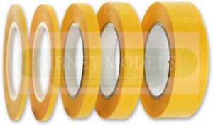 Precision Model Masking Tape 1mm, 2mm, 3mm, 6mm, 10mm, 18mm x 18m