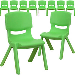 Flash Furniture 10 Pk. Plastic Stackable School Chair with 10.5'' Seat Height