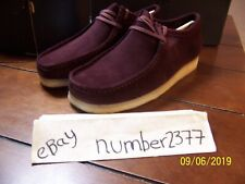 New Men Originals Clarks Wallabee Bordeaux suede size 10.5