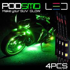 Motorcycle LED Glow Underbody GREEN Neon Rock Light Kit for Kawasaki Versys 650