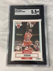 Michael Jordan 1990-91 Fleer #26 SGC 5.5 Chicago Bulls HOF