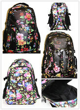 15 inch Floral Ladies Girls Laptop Rucksack Backpack Work School Bag (1132)