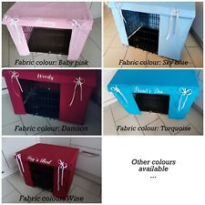 100% Plain Cotton - Dog Crate Cover - various colours - handmade - personalised