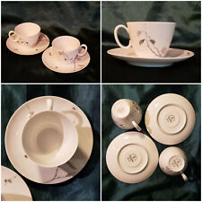 Pair of Rosenthal Cup & Saucer: Continental China: Quince by Raymond Loewy 1950s