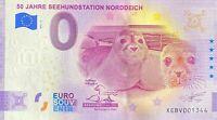 BILLET 0  EURO 50 JAHRE SEEHUNSSTATION NORDEICH ALLEMAGNE 2021  N° DIVERS