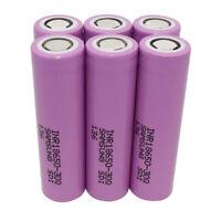 6Pcs 18*65mm 30Q 3000mAh High Drain 3.7V Li-ion Batterie Rechargeable Power Bank