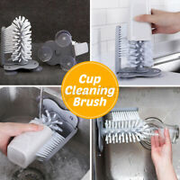 Cup Glass Mug Cleaning Brushes Scrubber Kitchen Cleaner Bottles Washing
