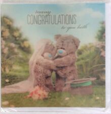 Me To You (Tatty Teddy)  congratulations to you both  3D Holographic Card (d2)