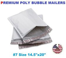 "12 #7 Poly Bubble Padded Envelopes Mailers 14.5"" X 20"" FREE FAST SHIP"