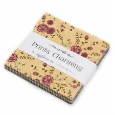 """Moda FABRIC Charm Pack ~ PRINTS CHARMING ~ by Sandy Gervais  42 - 5"""" squares"""