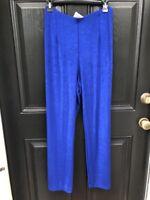 New RARE Chico's Travelers Artisan Sapphire Blue No Tummy Pants 3 = XL 16 18 NWT