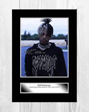 XXXTentacion 8 A4 signed mounted photograph picture poster choice of frame